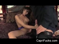 observe as huge-boobed  Capri gets her cunt ravaged Thumb