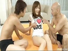 Two hard cocks and a vibrator for Nagisa Ai Thumb