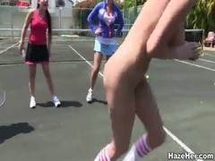 We are going to play naked tennis with another lesb girls Thumb