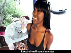 ExxxtraSmall - ebony Ashton Devine banging Outdoors Thumb