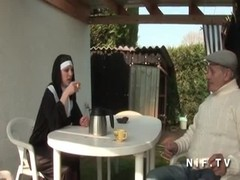 French nun anal fucked in threesome Thumb