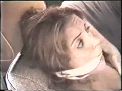 Painful roping action with a blindfolded submissive slut Thumb