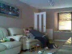 Mom and dad home alone having fun. Hidden cam Thumb