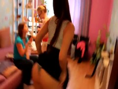 Young Russian teens funny play Thumb