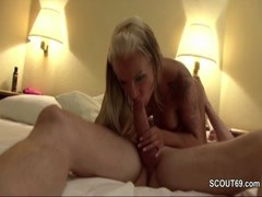 German Skinny Tattoo Teen get Privat Anal Fucked by 26cm Thumb