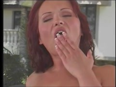 Redhead gets black cock in her anal and then facial cumshot Thumb