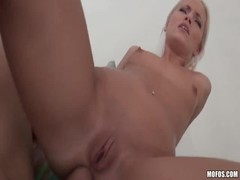Slender blonde with a shaved pussy in the video by Lets Try Anal Thumb