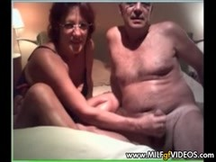 Older couple sucking and fucking on MILF GF contest line Thumb
