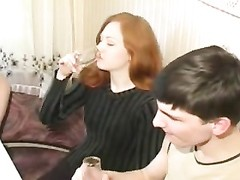 amateur - Russian Bisexual - pretty redhead MMF Thumb