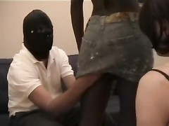 Black mistress with humiliated cuckold Thumb