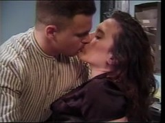 Hot brunette gets humped at the office Thumb