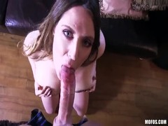 Cute cock-sucking slut is performing an awesome blowjob Thumb
