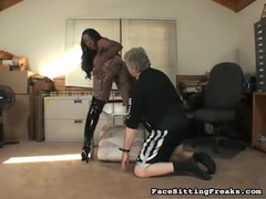 Old guy eating ebony's pussy and sucking her big ass Thumb