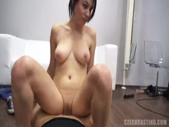 Sensual brunette with tattoos fucks hard at the casting Thumb