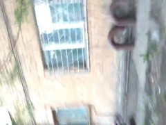 Truly crazy outdoor public sex with a Russian babe in front an old porch Thumb