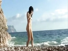 Russian teen nudist shaving stroking On Nude Beach Thumb