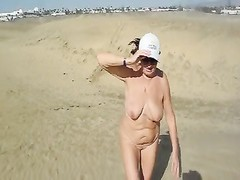 A prance in the dunes of Maspalomas Nude Thumb