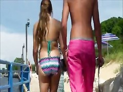 impersonal Beach swimsuit  ass arse West Michigan bootie tall Thumb