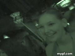 Lesbian porn with hottie giving cunnilingus in the dark Thumb