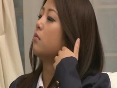 Big-breasted Japanese beauty is playing with her little pussy Thumb