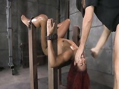 D.D. bronze ebony strapped down and fucked Thumb