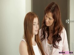 Redhead step mom and daughter are giving this guy a nasty dose of pleasure Thumb