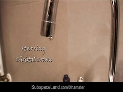 Sexy redhead bondaged in the shower and after fucked Thumb