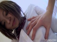 Asian schoolgirl diving in hardcore sex with horny lover Thumb