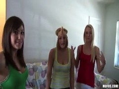 Young lesbian drunk sex party in college dorm room Thumb