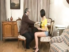 old Russian teacher is very fortunate Thumb