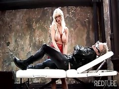 Fetish-time for this wild blond female Thumb