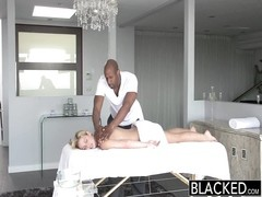 BLACKED steamy blondy Takes large murky pecker Thumb