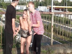 dicy PUBLIC group hook-up  ORGY allotment three Thumb