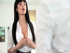 FantasyHD dame with big tits' at labor Thumb