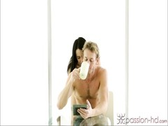 Passion-HD Brunette wants juice for coffee Thumb