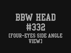 BBW Head #332 (Four-Eyes Side Angle View) Thumb