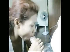 Thai female deep throats a massive 1 Thumb