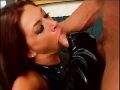 super hot brunette in latex gloves gets torn up in all her holes by Lee Stone Thumb
