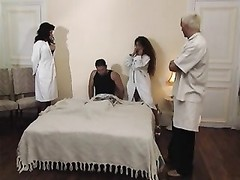 2 big-titted Italian Nurses pulverizes Patient (Chipy Marlow) Thumb