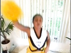 ebony cheerleader pummeling Thumb