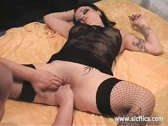 fierce ass-fuck and vaginal fist fucked inexperienced bitch Thumb