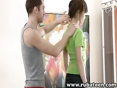 tall euro teen rubbed nailed and facialized Thumb