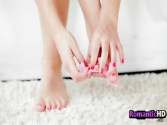 He is Turned on by her Freshly Painted Toes - RomanticHDcom. Thumb