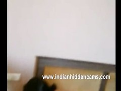 freshly  married youthful indian wifey  feeling shy when her husband recording her naked Thumb