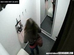 lovely Czech teen Snooped in changing Room! Thumb