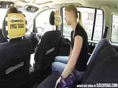 Czech Taxi - blondy teen gets slither of her LIFE Thumb