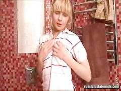 Russian Toilets jizz with dildos Thumb
