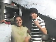 Northindian boy  fix cam and screw with her Aunty Thumb