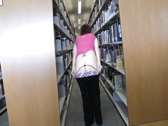 Bella Jaimes At The College Library Flashing Thumb