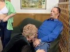 aged couple with next doors mature Thumb